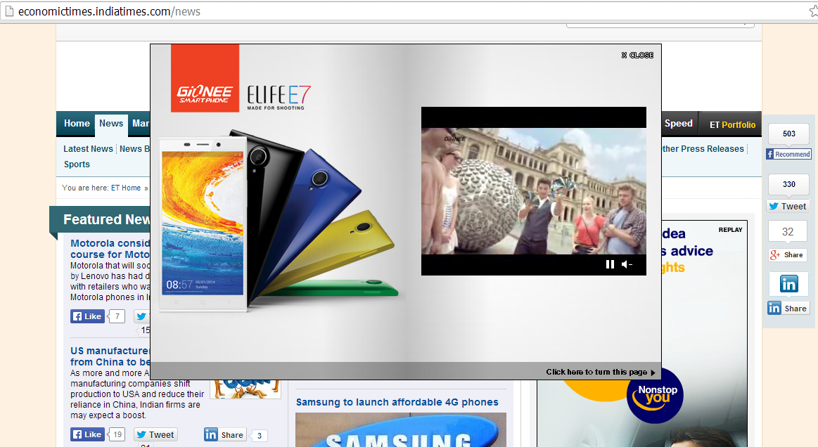 Featuring Our Work: Media Buying and Planning for Gionee India During the Launch of Elife E7: #MadeForShooting