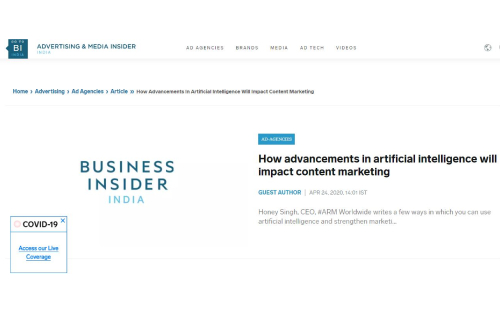 How Advancements in artificial intelligence will impact content marketing