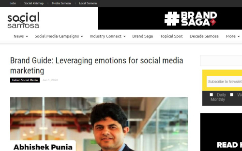 How Brands on social media are leveraging emotional connect to engage with the customers
