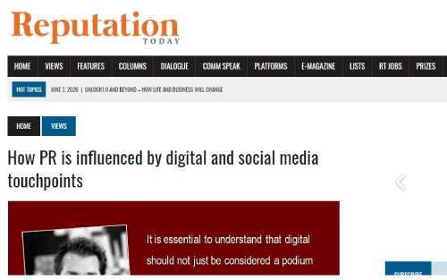 How PR is influenced by digital and social media touchpoints