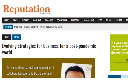 Evolving strategies for business for a post-pandemic world