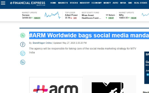 #ARM Worldwide bags social media mandate for MTV India