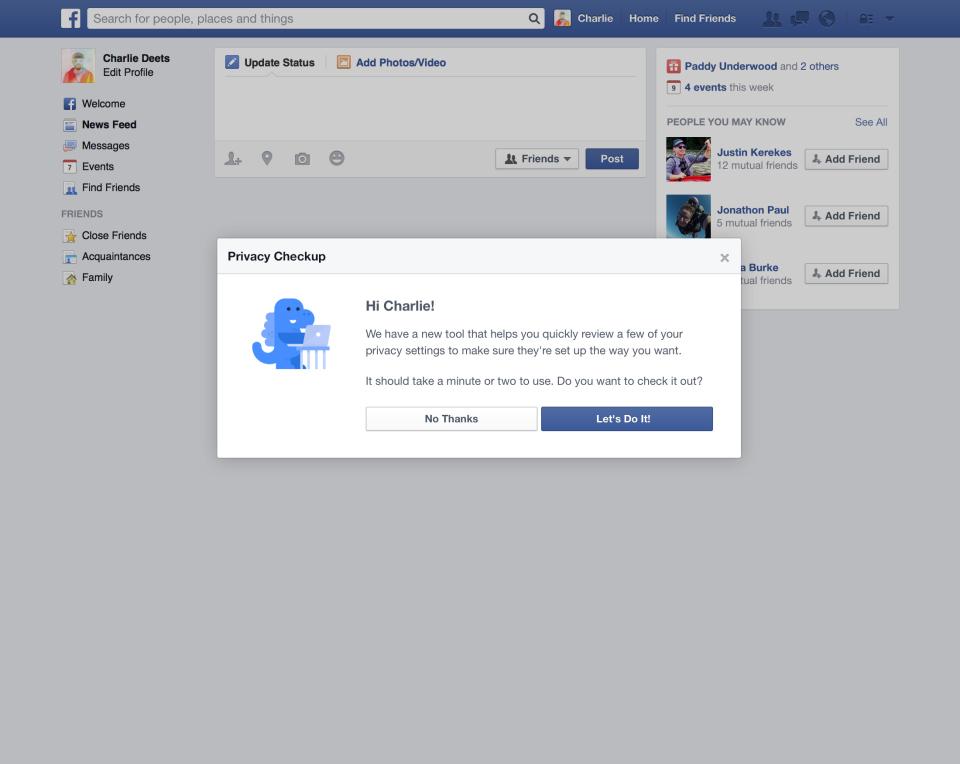 Privacy check FB