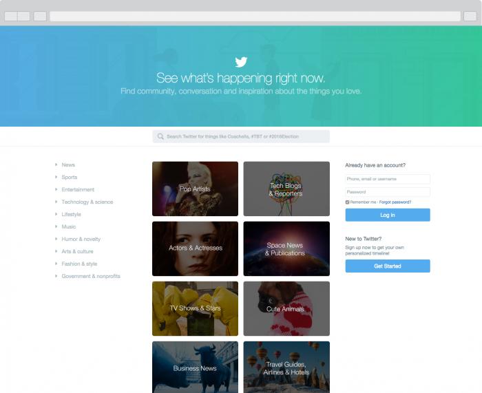 Twitter Home- No Login