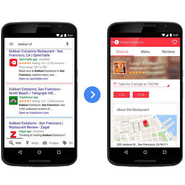 App Engagement in Search