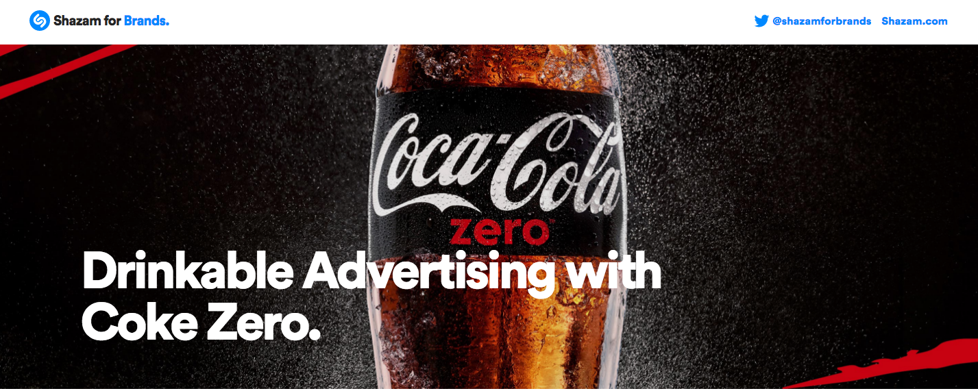 Shazam for Brands, Coke Zero