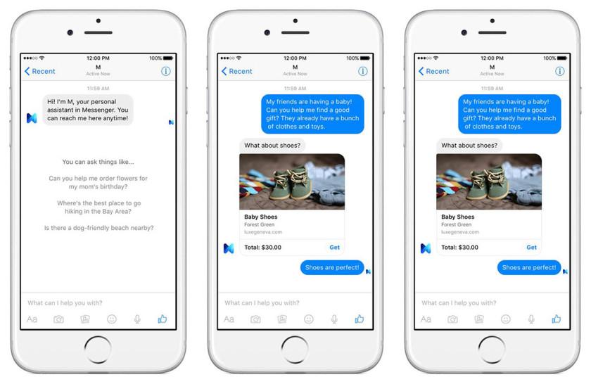 Facebook's M digital assistant