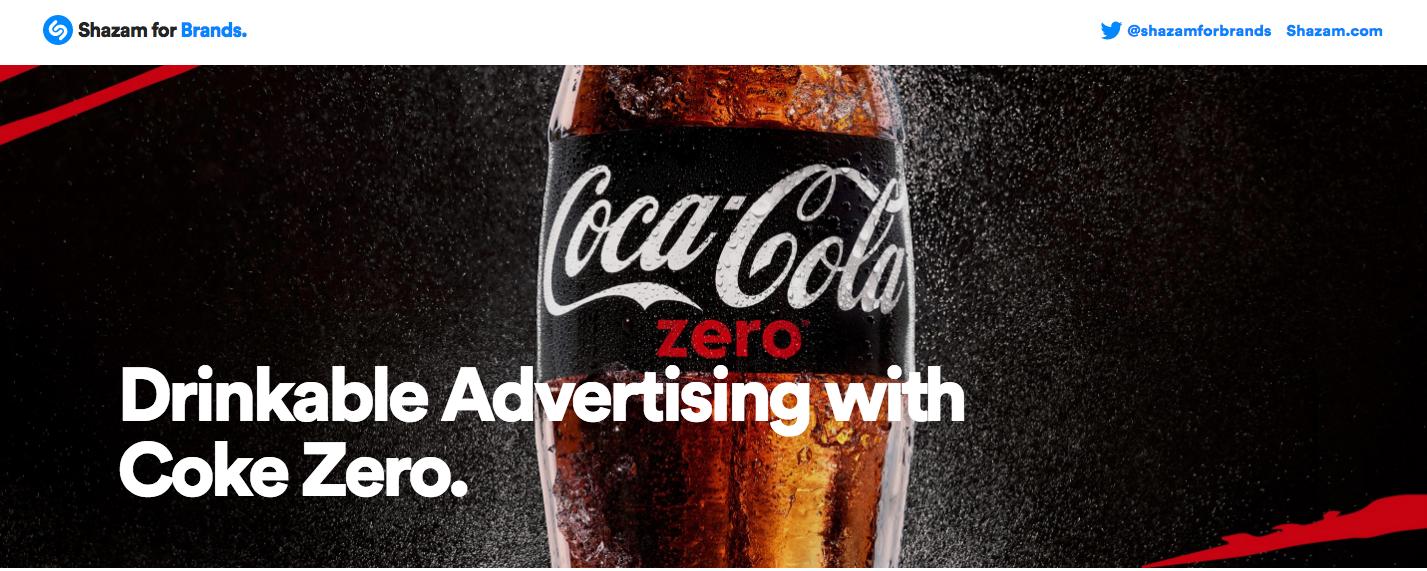 Shazam for Brands, Coke Zero